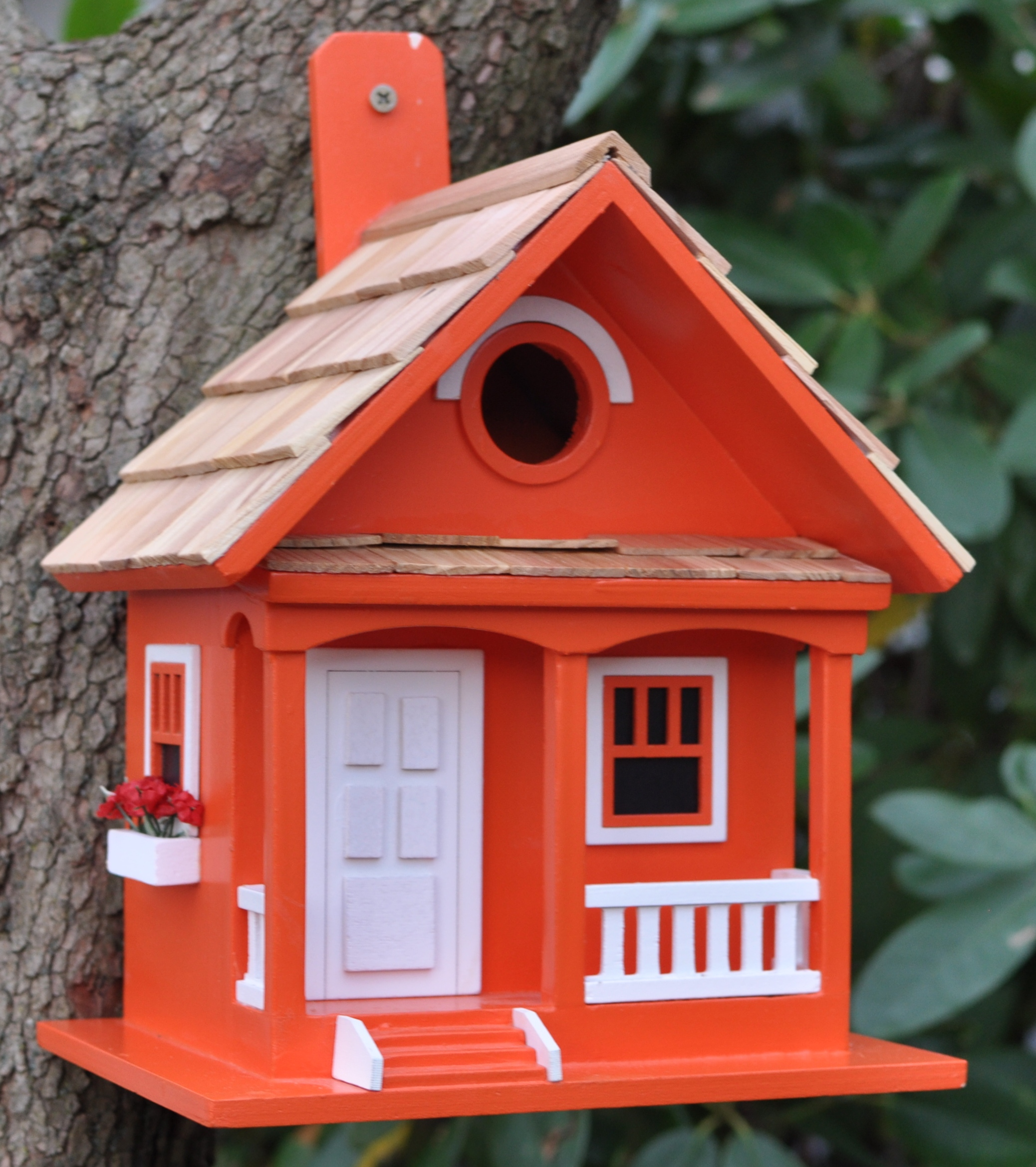 Tangerine cottage style novelty bird house feeder nest for Bird house styles
