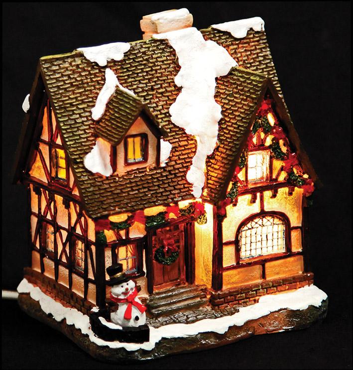 Ceramic Light Up Christmas Tree Uk: The Detailed Christmas Light Up Ceramic Tudor House Model