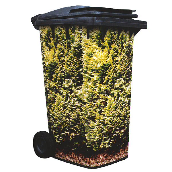 Conifer Hedge Wheelie Bin Cover