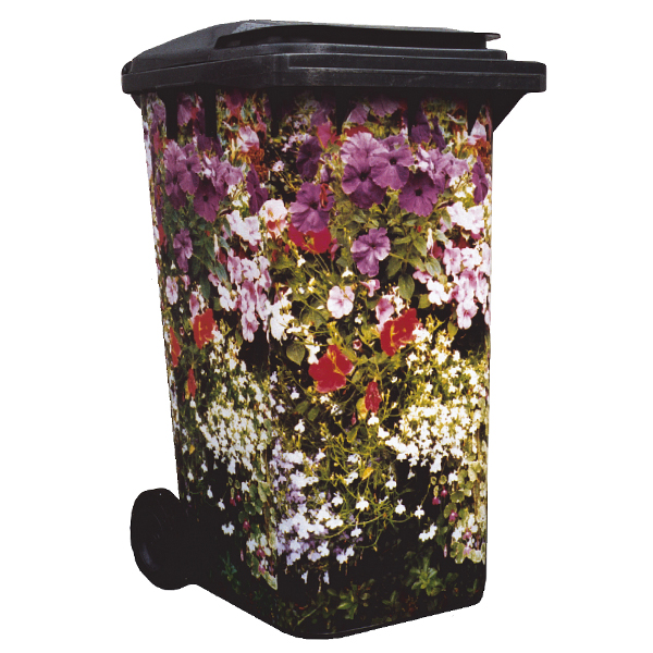 Cottage Garden Wheelie Bin Cover