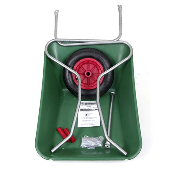 Green 85L Plastic Wheelbarrow_1
