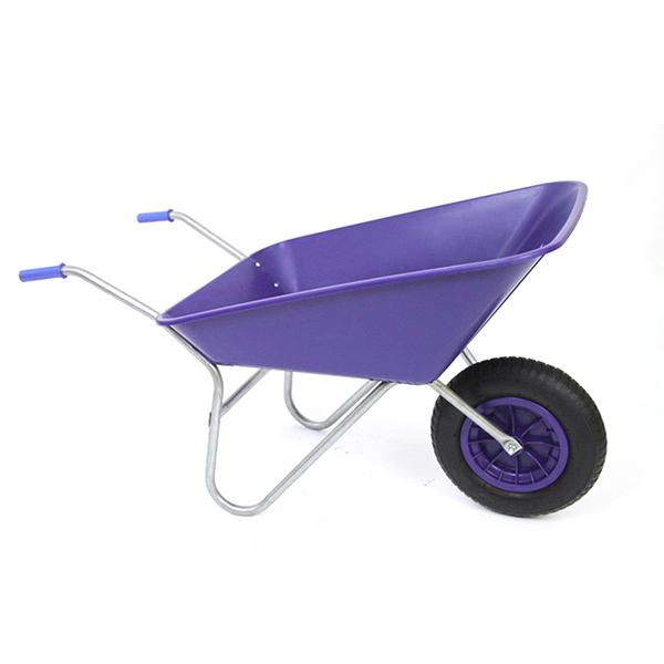 Purple 85L Plastic Wheelbarrow