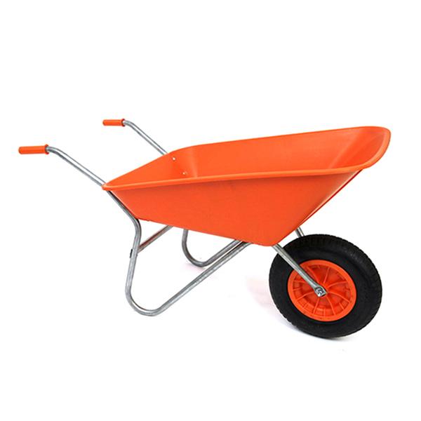 Orange 85L Plastic Wheelbarrow