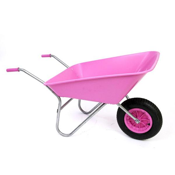 Pink 85L Plastic Wheelbarrow
