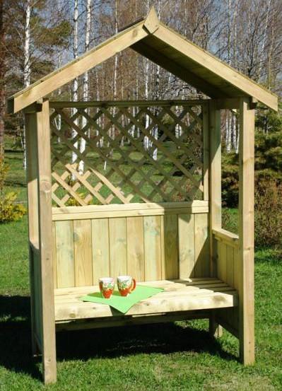 Artemis arbour bench