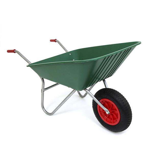 Green 85L Plastic Wheelbarrow