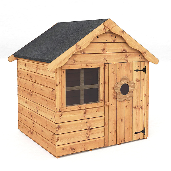 Candy Outdoor 4' x 4' Wooden Children's Playhouse