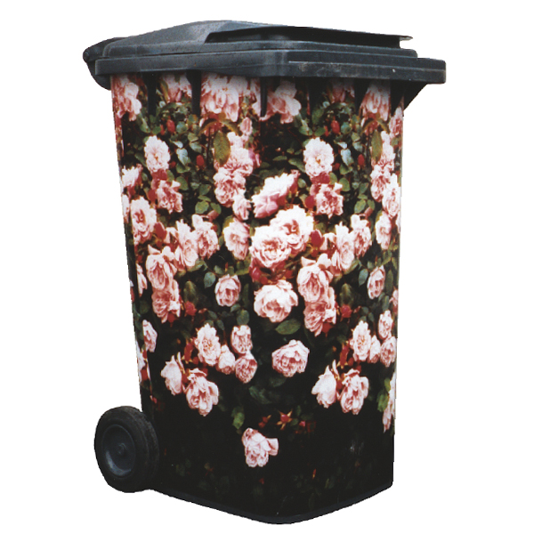 Rose Floribunda Wheelie Bin Cover