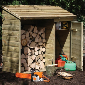 Handy FSC Wooden Storage Unit For Logs/ Pre-packed Coal/ Tools And More -1190