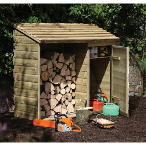 Handy FSC Wooden Storage Unit For Logs/ Pre-packed Coal/ Tools And More -0