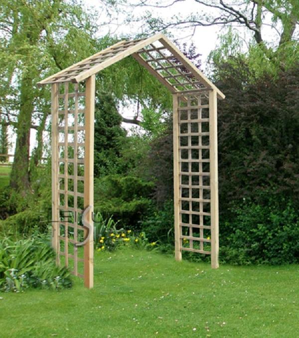 The Atlas Arch FSC Wooden Garden Rose Arch_2