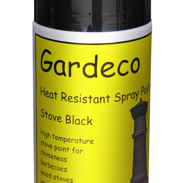 Black Heat Resistant Spray Paint -0