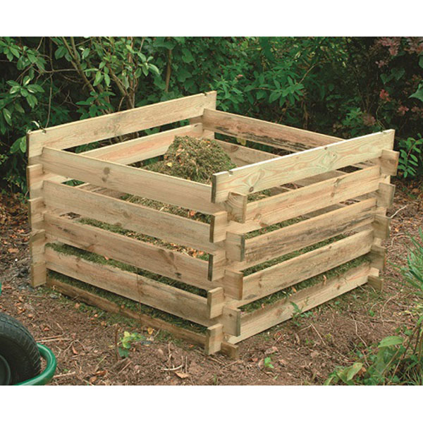 Slot Together Wooden Composter