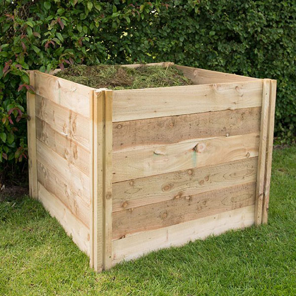 Slot Down Wooden Compost Bin