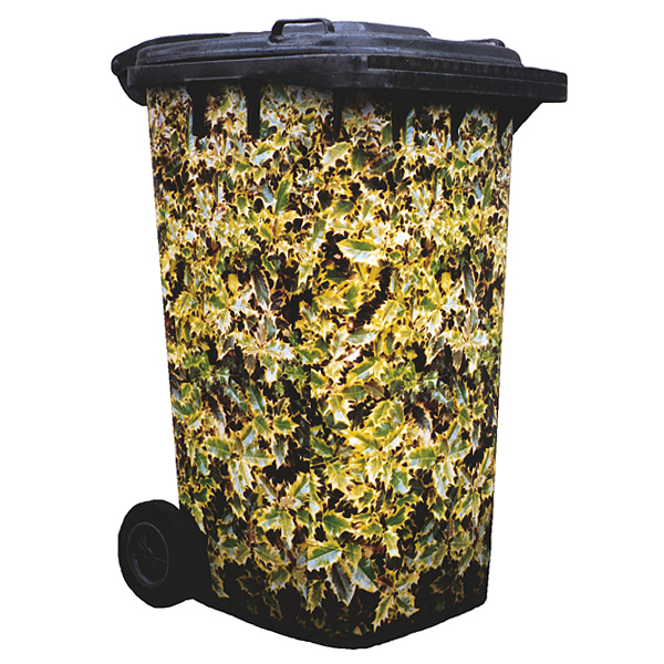 Holly Golden King Wheelie Bin Cover