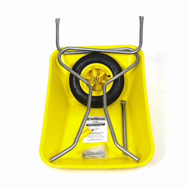 Yellow 85L Plastic Wheelbarrow_1