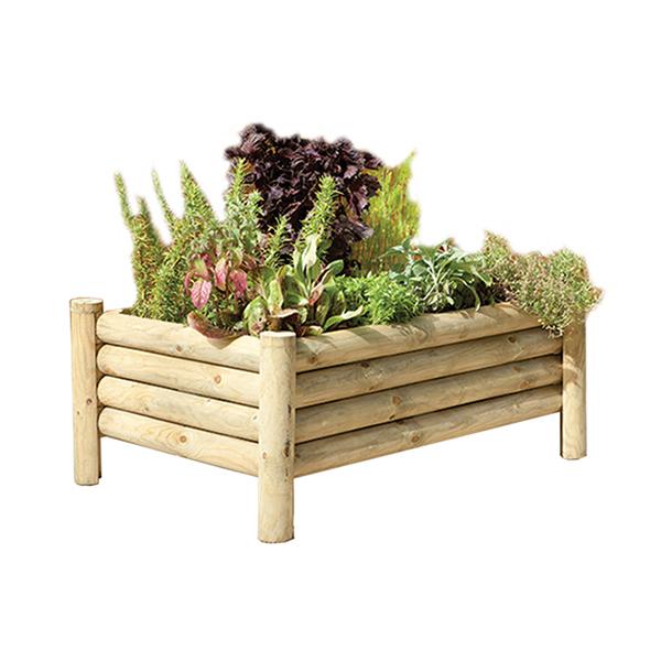 Raised Log Design Garden Planter