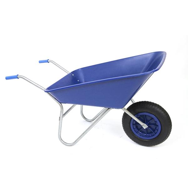 Blue 85L Plastic Wheelbarrow