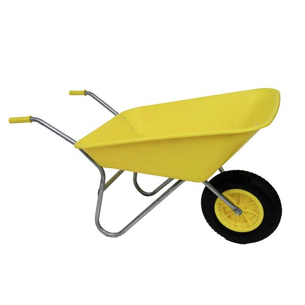 Yellow 85L Plastic Wheelbarrow