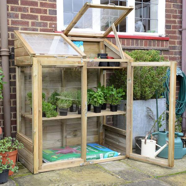 FSC Timber Mini Greenhouse (1.44 x 1.2 x .62m)