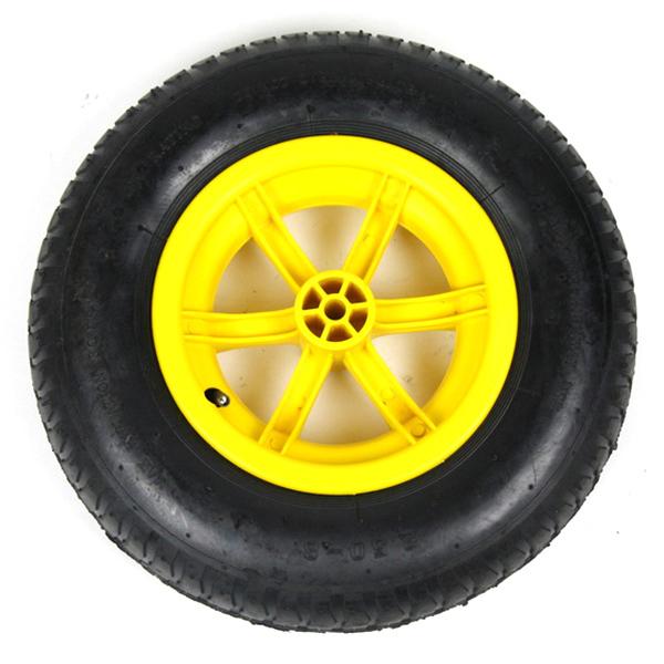 Yellow 85L Plastic Wheelbarrow_2