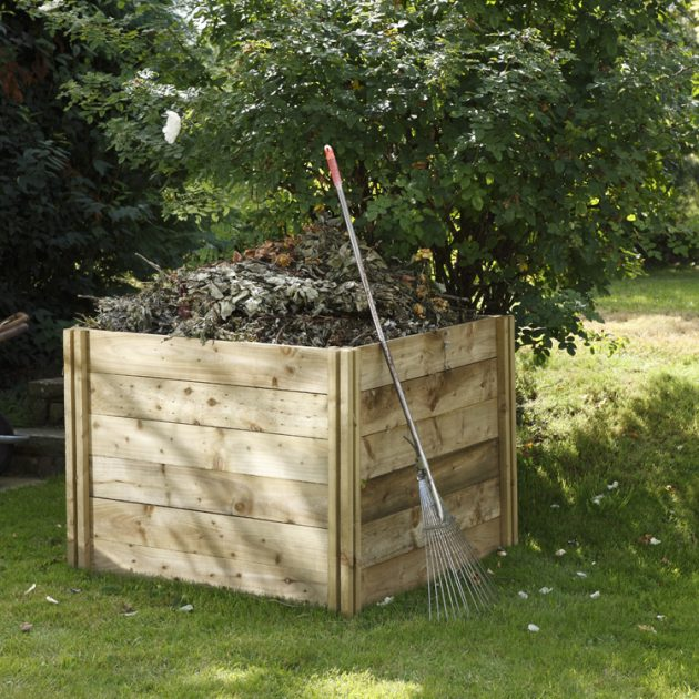 Slot Down Wooden Compost Bin Ideal for Recycling Green Waste-0