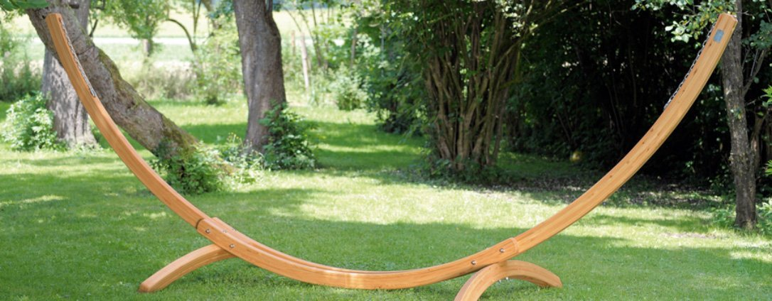 Arcus Waterproof Banana Larch Wood Hammock Stand -0