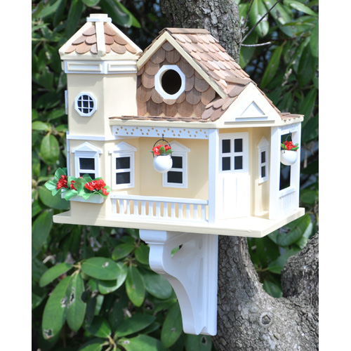 Decorative Cottage Style Bird House and Feeder-0