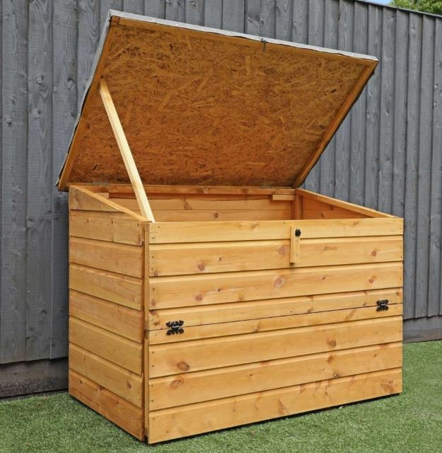 Kirkby Shiplap Outdoor Wooden Storage Chest-9464