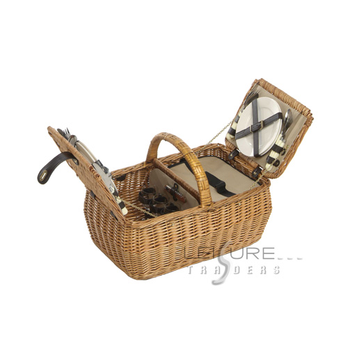 4 Person Willow Basket-0