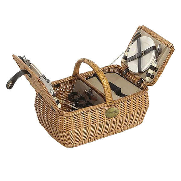 4 Person Willow Picnic Basket
