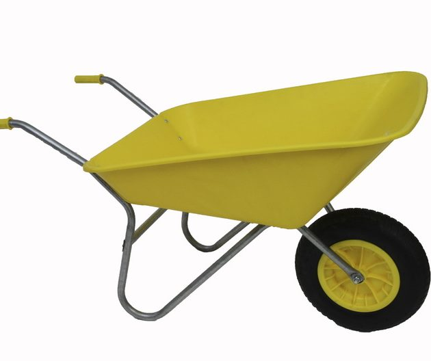 Yellow wheelbarrow