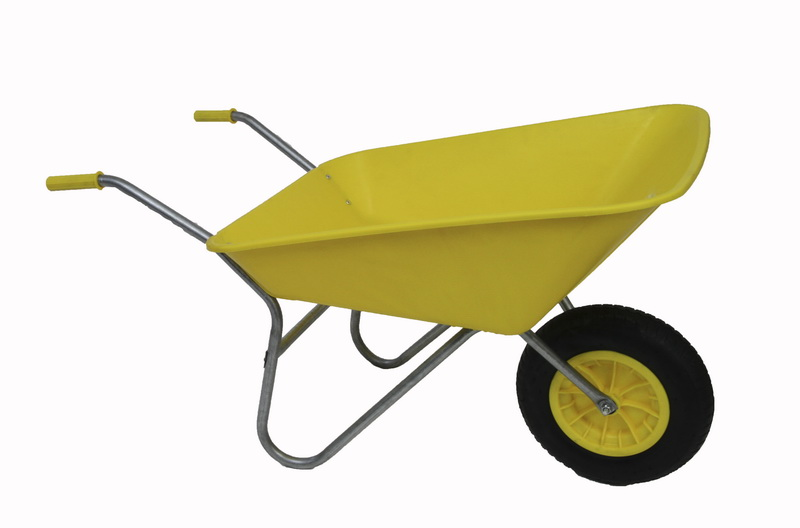 Yellow wheelbarrow