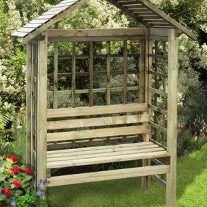 Cassandra arbour bench
