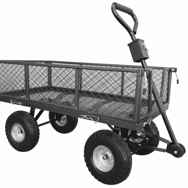 Small Pull Along Handy Garden Trolley -0