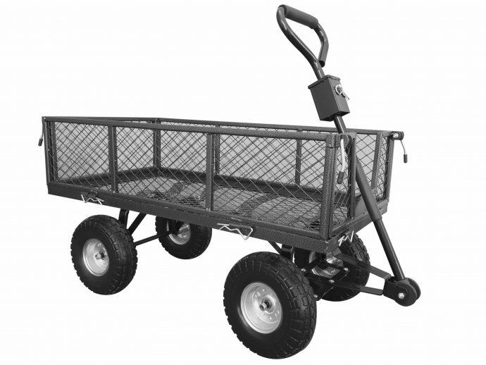 Small Pull Along Handy Garden Trolley -0