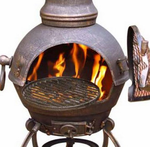 Cast Iron Large Bronze Chimenea-967