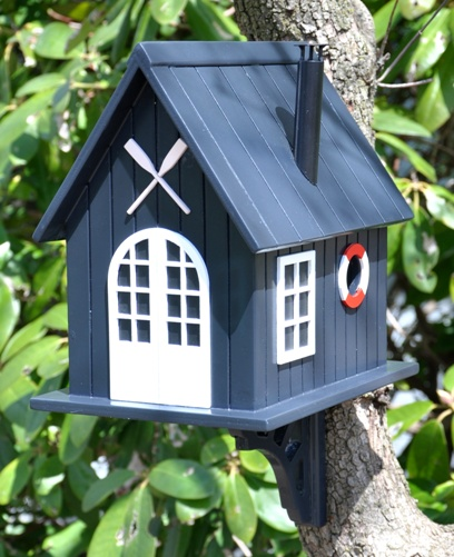 Boathouse Design Bird House and Feeder-0