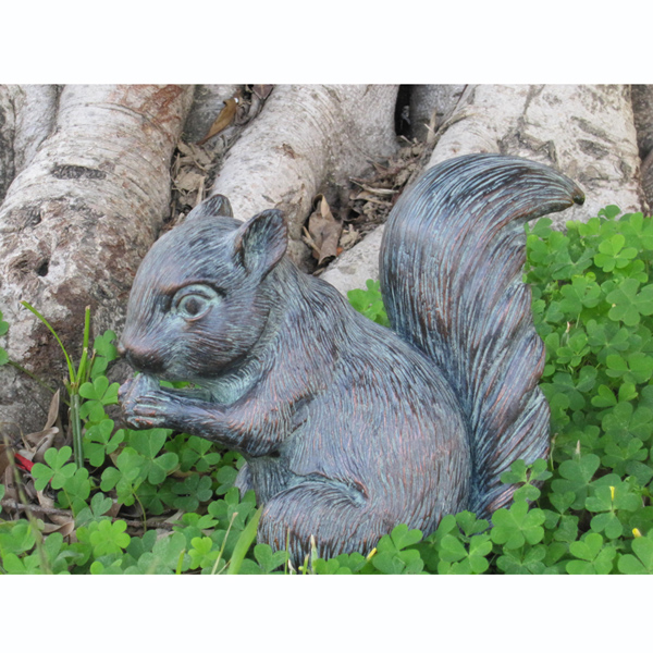 Baby Squirrel Garden Ornament