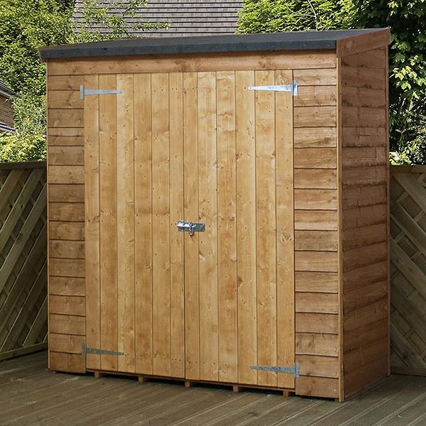 "Lupton 6' x 2'6"" Pent Wooden Garden Store_1"