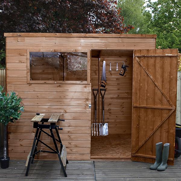 Coledale Pent Wooden Garden Shed_2