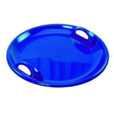 The Large Speedy Circular Snow Sled Pan In Brilliant Blue -0