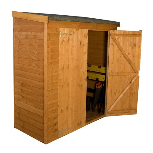 "Lupton 6' x 2'6"" Pent Overlap Outdoor Wooden Storage-3385"