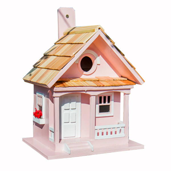 Cotton Candy Cottage Bird House