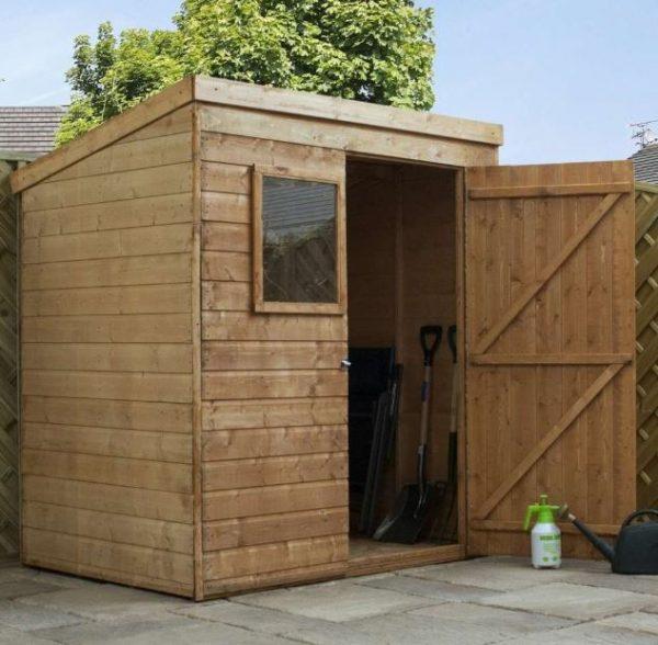 Coledale 6' x 4' Shiplap Pent Wooden Garden Shed-9407