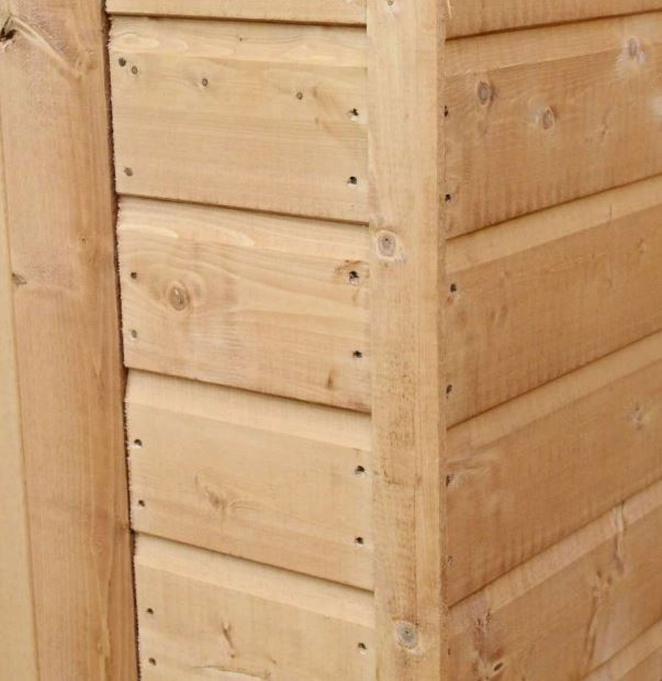 Coledale 6' x 4' Shiplap Pent Wooden Garden Shed-9401