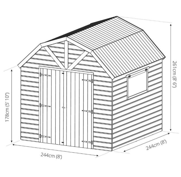 Gowan Dutch Style Tongue and Groove Timber Shed/ Workshop-9444