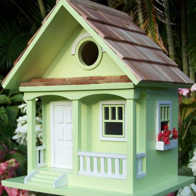 Key Lime Cottage Style Bird House and Feeder-0