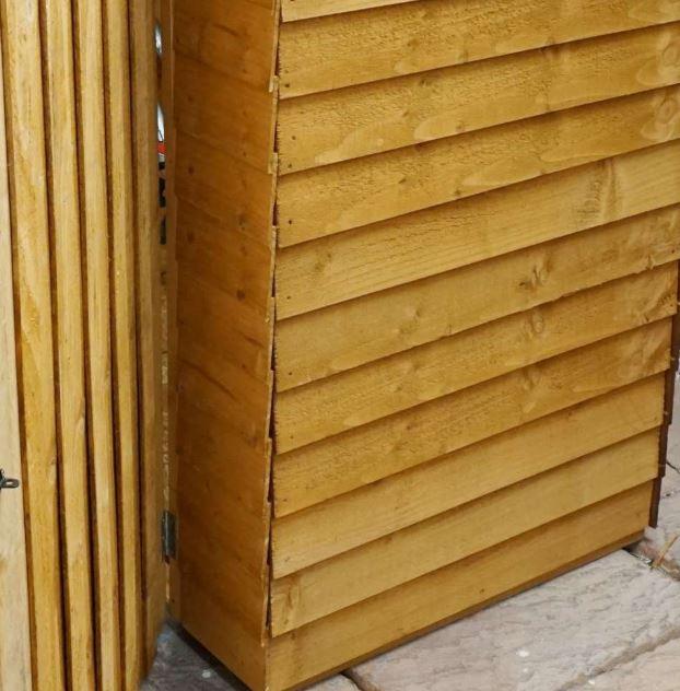 Winster Wooden Outdoor Overlap Bike Store-9478