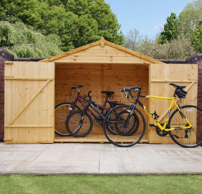 Winster Wooden Outdoor Overlap Bike Store-9471